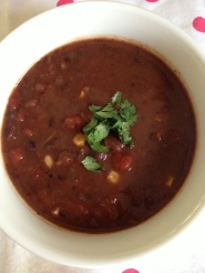 Black bean soup - Dinner at home