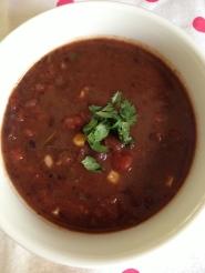 Black bean soup - Dinner at home