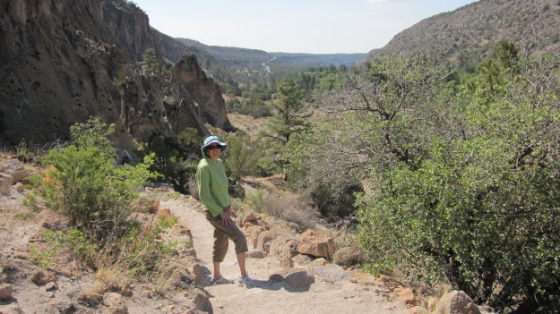 Hiking at Bandelier National Monument