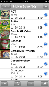 ValueTracker allows you to track grocery prices